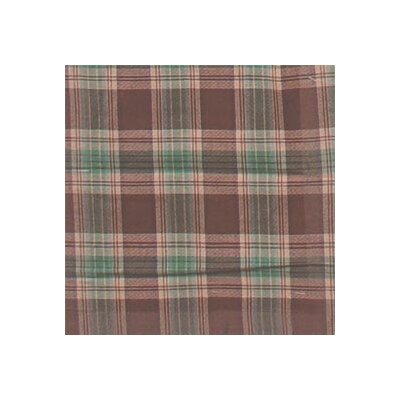 Brown and Green Plaid Toss Pillow