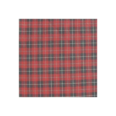 Red and Black Plaid White Lines Pillow Sham