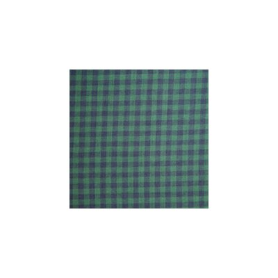 Patch Magic Dark Green and Blue Checks Cotton Curtain Panel  (Set of 2)