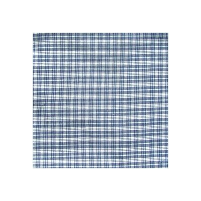 Patch Magic Blue and White Plaid Cotton Curtain Valance