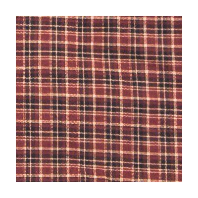 Patch Magic Maroon Red and Black Plaid Cotton Curtain Panel  (Set of 2)