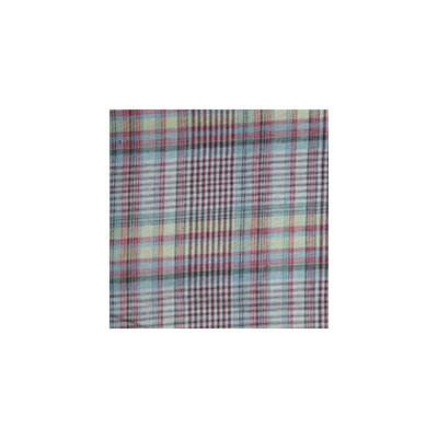 Patch Magic Red Lines and Off White Plaid Pillow Sham