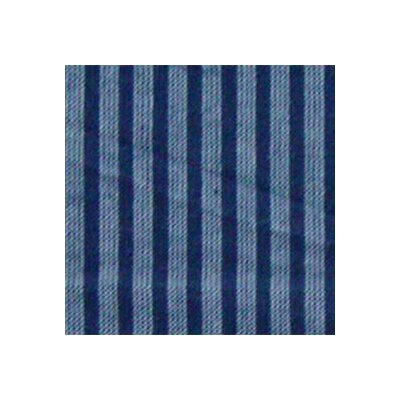 Blue and Horizontal White Stripes Toss Pillow