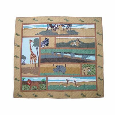 Patch Magic Safari Cotton Shower Curtain