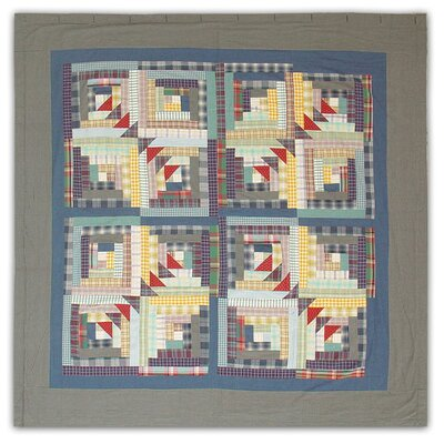 Patch Magic Wild Goose Log Cabin Cotton Shower Curtain