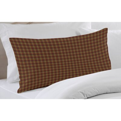 Patch Magic Tan and Gold Rustic Check Fabric Sham