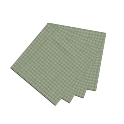 Patch Magic Green Mint and White Gingham Checks Napkin (Set of 4)