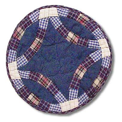 Blue Dbl Wedding Ring Place Mat