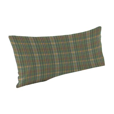 Green Yellow Plaid Fabric Pillow Sham