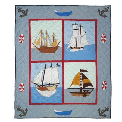 Patch Magic Ships Ahoy Cotton Throw