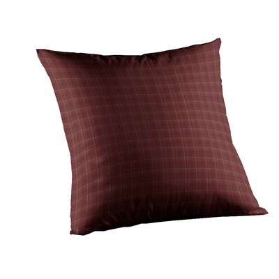 Dark Maroon Check Fabric Toss Pillow