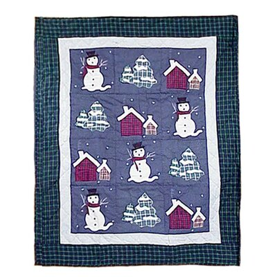 Patch Magic Snowman Cotton Throw