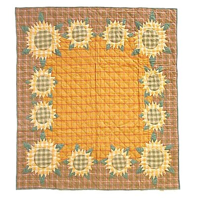 Patch Magic Sunflower Cotton Throw