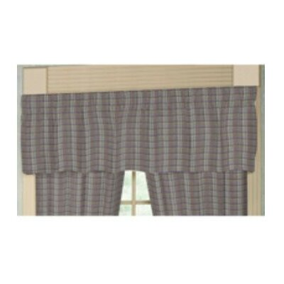 Patch Magic Red Lines and Off White Plaid Cotton Curtain Valance