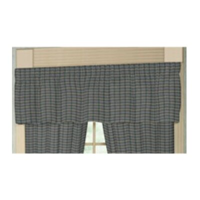 "Patch Magic Navy and Light Blue Plaid Rod Pocket 54"" Curtain Valance"