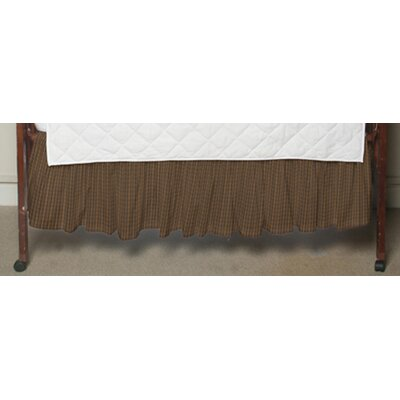 Dark Brown Plaid Fabric Crib Dust Ruffle