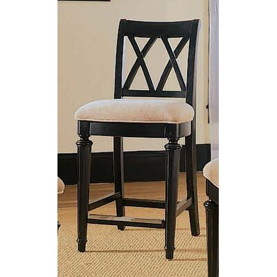 American Drew Camden Black Splat Bar Stool