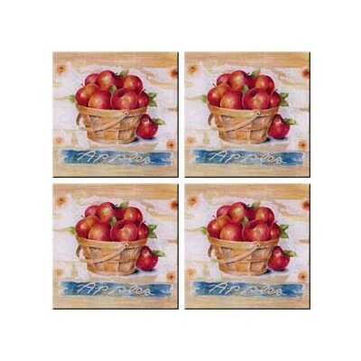 Tuftop Apple Basket Coasters (Set of 4)
