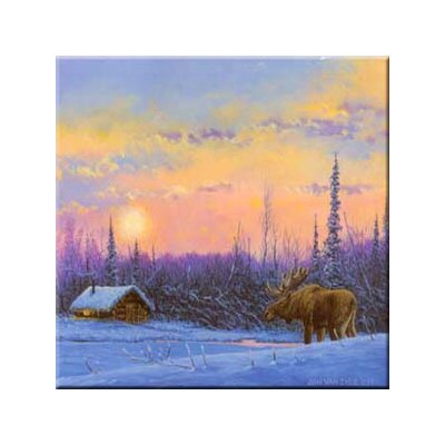 Tuftop Van Zyle Moose and Cabin Trivet