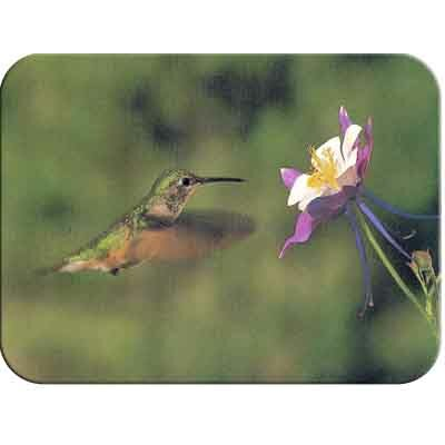 McGowan Tuftop Hummingbird and Columbine Cutting Board