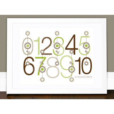 olli & lime George 123 Wall Art