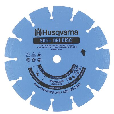Husqvarna SD5+ Super Premium Green Concrete Diamond Blades