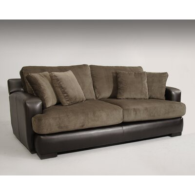 Wildon Home ® Bally Leather / Polyester Sofa