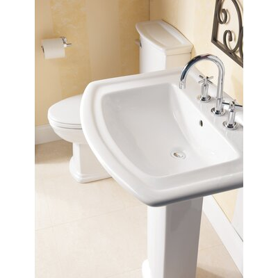 Washington 550 Pedestal Bathroom Sink - 3-394WH / 3-398WH
