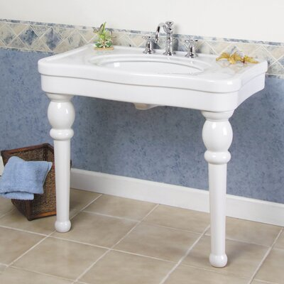 Barclay Gray Versailles Console Bathroom Sink with Center | Wayfair
