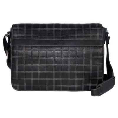 Dr. Koffer Fine Leather Accessories Cross Stitch Horizontal Laptop Messenger Bag
