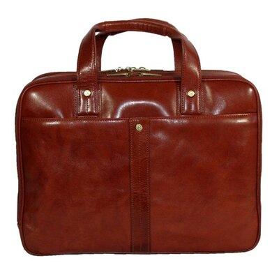 Dr. Koffer Fine Leather Accessories Kevin Leather Laptop Briefcase