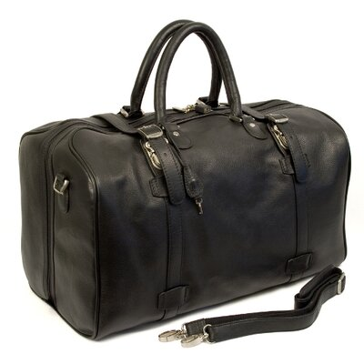 "Dr. Koffer Fine Leather Accessories Byron 21"" Leather Carry-On Duffel"