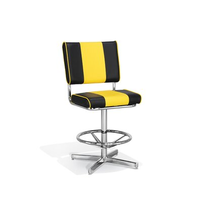 Chromcraft Retro Striped Counter Height Stool
