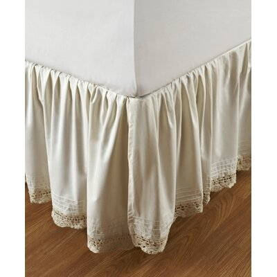 Amity Home Bella Cotton Crochet Bed Skirt