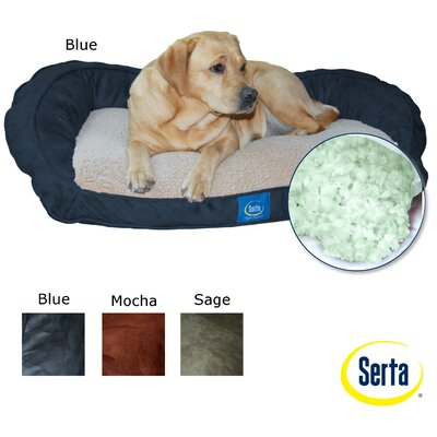 Serta Mattress Bolster Memory Foam Pet Bed