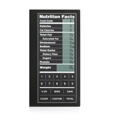 Kitrics Perfect Portions Digital Scale with Nutrition Facts Display in Black