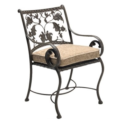 Woodard Landgrave Old Gate Dining Arm Chair with Cushion