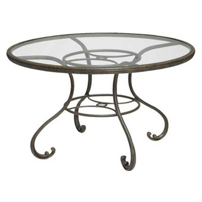 old gate glass top 48 round dining table wayfair. Black Bedroom Furniture Sets. Home Design Ideas