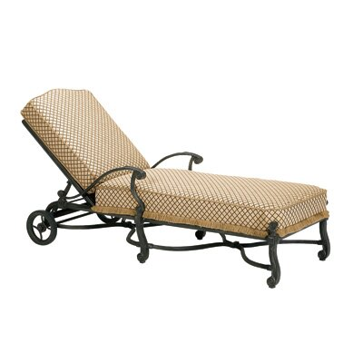 Woodard Landgrave Villa Chaise Lounge with Cushion