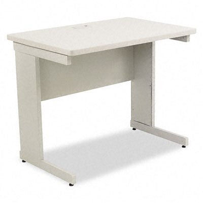 "Maxon 36"" W x 24"" D Modular Corner Worktable in Gray"