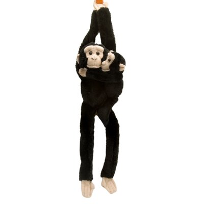 Wild Republic Hanging Chimp with Baby Stuffed Animal