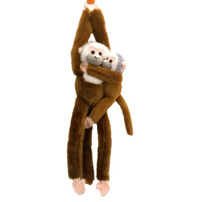 Hanging Squirrel Monkey with Baby Stuffed Animal
