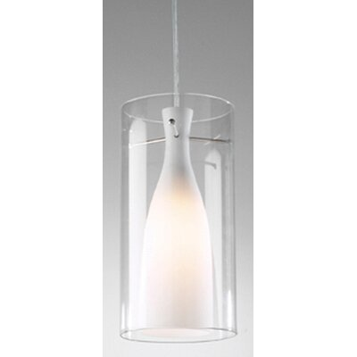 Dar Lighting Boda One Light Pendant in Satin Chrome