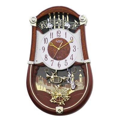 Rhythm U.S.A Inc Concerto Entertainer Melody Wall Clock