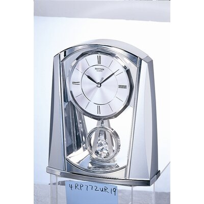 Rhythm U.S.A Inc Silver Swing Clock