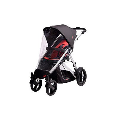 phil&teds Storm Cover for Verve Buggy in Singles Mode Jogging Stroller
