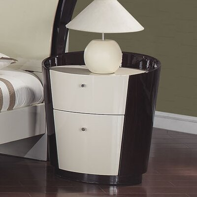 Global Furniture USA New York 2 Drawer Nightstand