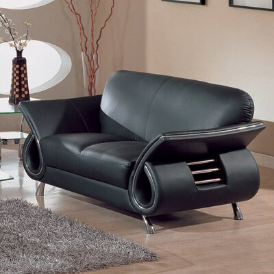 Global Furniture USA Clark Leather Loveseat