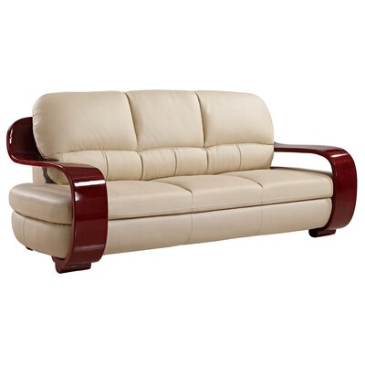 Global Furniture USA Leather Sofa