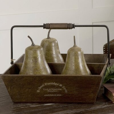 Uttermost Pears in Basket (Set of 5)